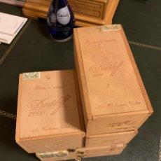Cajas de Puros: ORIGINAL CIGAR BOX 6X SET EMPTY DUNHILL DAVIDOFF HAVANA. Lote 195191600