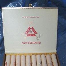 Cajas de Puros: CAJA ANTIGUA DE PUROS MONTECRISTO 10 TUBOS. Lote 195193862