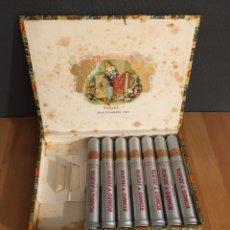 """Cajas de Puros: CAJA PUROS ROMEO Y JULIETA TUBOS NO. 1 """"1980'S"""" (6PUROS) CAJA PUROS, CIGARS BOX, HABANOS. Lote 195240872"""