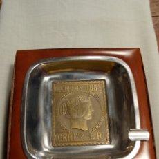 Cajas de Puros: CAJA PURERA CENICERO CORREOS 1853. Lote 195267098