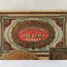 Cajas de Puros: CAJA DE PUROS VINTAGE CUBAN CIGAR BOX HOYO DE MONTERREY DON RAMON N. 1 ENVIO INCLUIDO. Lote 195277180