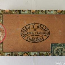 Cajas de Puros: CAJA DE PUROS VINTAGE CUBAN CIGAR BOX ROMEO Y JULIETA REGALIA DE LA HABANA ENVIO INCLUIDO. Lote 195277440