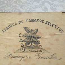 Cajas de Puros: ANTIGUA CAJA DE PUROS HABANO 25 VIUDITAS TABU DOMINGO GONZALEZ.HABANOS. Lote 195321446