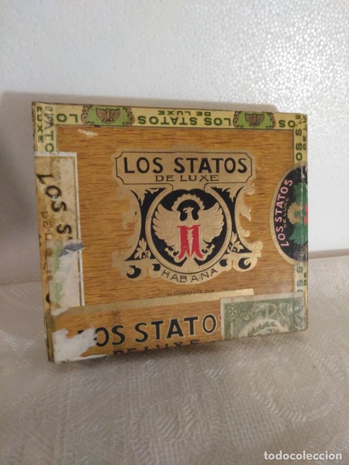 ANTIGUA CAJA DE 10 PUROS HABANOS LOS STATOS,PRECINTADA (Coleccionismo - Objetos para Fumar - Cajas de Puros)