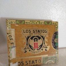 Cajas de Puros: ANTIGUA CAJA DE 10 PUROS HABANOS LOS STATOS,PRECINTADA. Lote 195345345