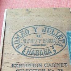 Cajas de Puros: ANTIGUA CAJA DE PUROS ROMEO Y JULIETA EXHIBITION CABINET SELECCION NO 23 PRE EMBARGO CUBA. Lote 195370708