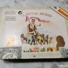 Cajas de Puros: MAGNIFICA CAJA DE PUROS HABANOS REY DEL MUNDO (DEMI TASSE) CERRADA Y CON LOS PRECINTOS AÑO 2000. Lote 195389336