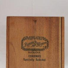 Cajas de Puros: CAJA DE PUROS VINTAGE CUBAN CIGAR BOX RAMON ALLONES SPECIALLY SELECTED ENVIO INCLUIDO. Lote 195401382