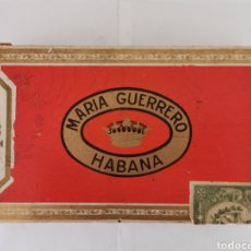 Cajas de Puros: CAJA DE PUROS VINTAGE CUBAN CIGAR BOX MARIA GUERRERO BOUQUETS PRE EMBARGO ENVIO INCLUIDO. Lote 195401943