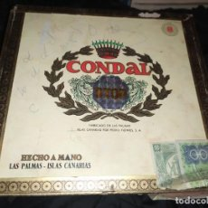 Cajas de Puros: ANTIGUA CAJA DE PUROS CONDAL HECHOS A MANO EN ISLAS CANARIAS PEDRO FUENTES VACIA ÚNICA?. Lote 195440978