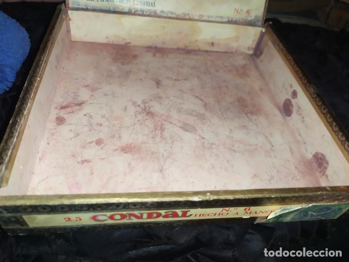 Cajas de Puros: ANTIGUA CAJA DE PUROS CONDAL HECHOS A MANO EN ISLAS CANARIAS PEDRO FUENTES VACIA ÚNICA? - Foto 5 - 195440978