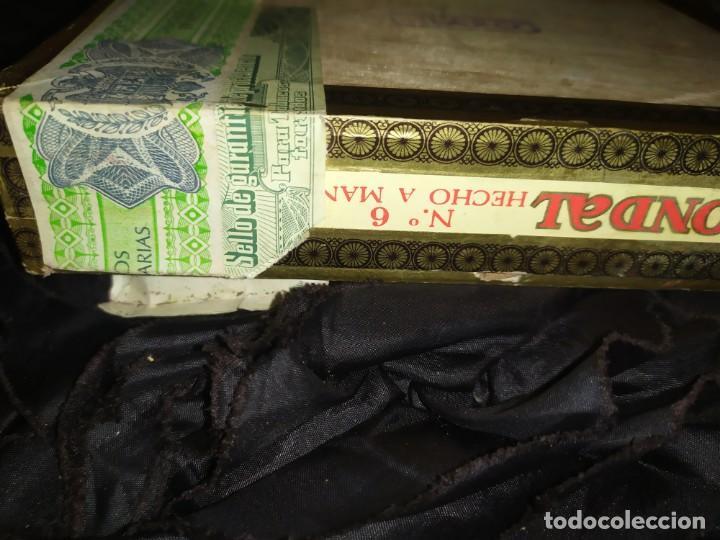 Cajas de Puros: ANTIGUA CAJA DE PUROS CONDAL HECHOS A MANO EN ISLAS CANARIAS PEDRO FUENTES VACIA ÚNICA? - Foto 16 - 195440978