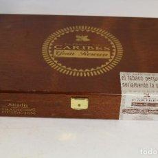 Cajas de Puros: CAJA DE PUROS LA FLOR DE LOS CARIBES. Lote 195446667