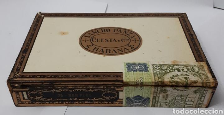 CAJA DE PUROS HABANOS SANCHO PANZA. 25 NON PLUS. CONTIENE 8 EJEMPLARES. (Coleccionismo - Objetos para Fumar - Cajas de Puros)