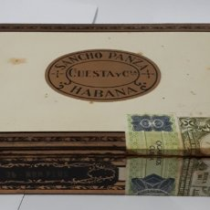 Cajas de Puros: CAJA DE PUROS HABANOS SANCHO PANZA. 25 NON PLUS. CONTIENE 8 EJEMPLARES.. Lote 195453118