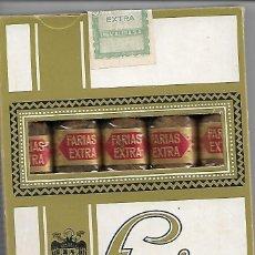 Cajas de Puros: CAJA DE FARIAS EXTRA ANTIGUA Y TOTALMENTE NUEVA SIN ABRIR. Lote 195713213