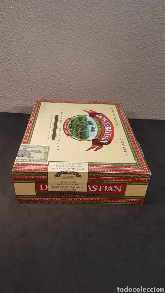 Cajas de Puros: Caja de colección de cigarros DON SEBASTIAN de República Dominicana con 7 cigarros de 14 cm. Con en - Foto 3 - 195784276