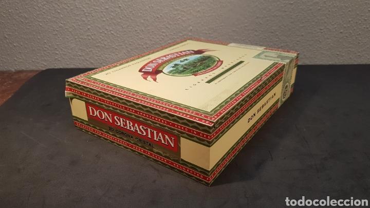 Cajas de Puros: Caja de colección de cigarros DON SEBASTIAN de República Dominicana con 7 cigarros de 14 cm. Con en - Foto 5 - 195784276