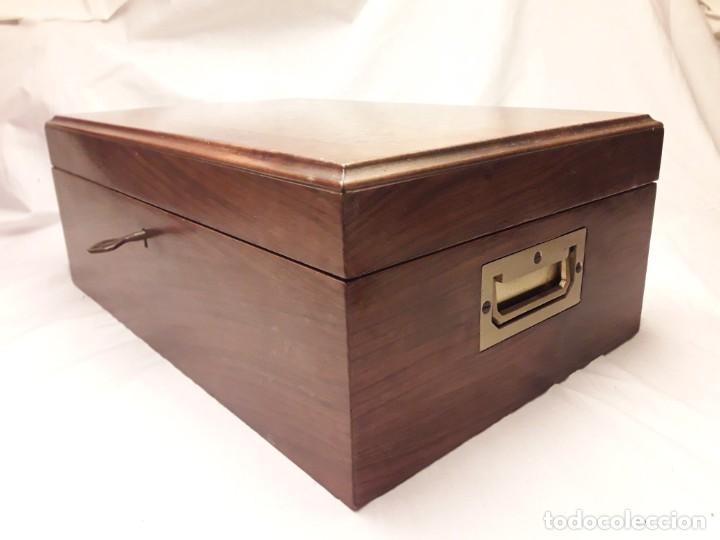 Cajas de Puros: Elegante caja de puros Humidificador madera de gran calidad de Olivo o Nogal - Foto 3 - 195974308