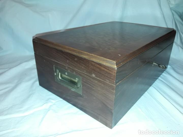 Cajas de Puros: Elegante caja de puros Humidificador madera de gran calidad de Olivo o Nogal - Foto 4 - 195974308