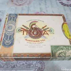 Cajas de Puros: CAJA DE PUROS TROYA (VACÍA). Lote 196078632