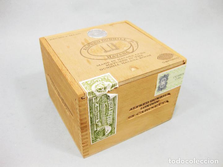 CAJA DE PUROS ALFRED DUNHILL - MADE IN HAVANA CUBA - CUBATABACO - 25 CABINETTA (Coleccionismo - Objetos para Fumar - Cajas de Puros)