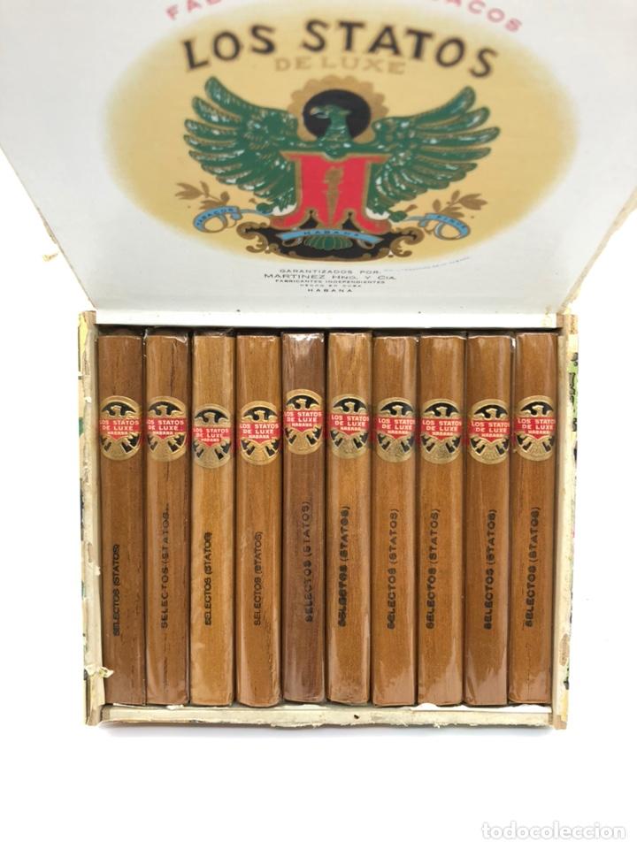 CAJA PUROS LOS STATOS SELECTOS HABANA CONTIENE 10 PUROS NO ES PARTAGAS,DUNHILL... (Coleccionismo - Objetos para Fumar - Cajas de Puros)