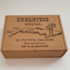 Cajas de Puros: CUBANITOS SPECIAL CUBA, 50 PETITS HAVANE, HABANOS, CAJA VACÍA. Lote 197411278