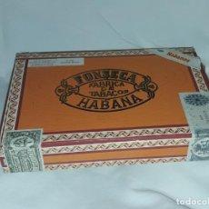 Cajas de Puros: CAJA DE PUROS FABRICA DE TABACOS FONSECA HABANA COSACOS CUBA VACÍA. Lote 197415428