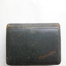 Cajas de Puros: ANTIGUA CAJA MADERA CIGARRILLOS 13 X 11 CM. Lote 198125885
