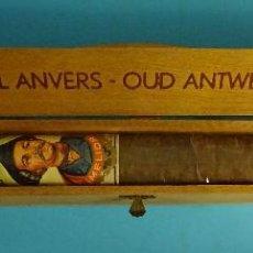 Cajas de Puros: CAJA DE MADERA CON PURO VIEIL ANVERS - OUD ANTWERPEN. VITOLA MELIOR. FORMATO CAJA 36 X 4,5 X 4 CM. Lote 198371751