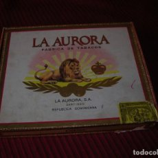 Cajas de Puros: CAJA DE PUROS LA AURORA.REPÚBLICA DOMINICANA.. Lote 198386885