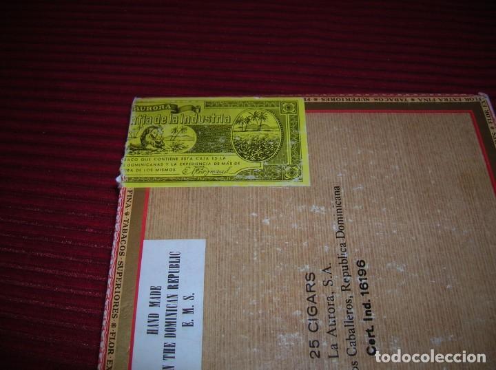 Cajas de Puros: Caja de puros La Aurora.República Dominicana. - Foto 3 - 198386885