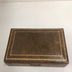 Cajas de Puros: CAJA DE CUERO ANTIGUA PUROS. Lote 199064716