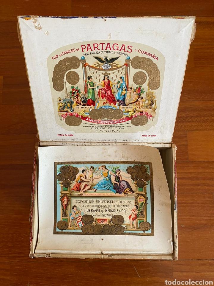 Cajas de Puros: CAJA DE PUROS VINTAGE CUBAN CIGAR BOX PARTAGAS ENVIO INCLUIDO - Foto 2 - 199315746