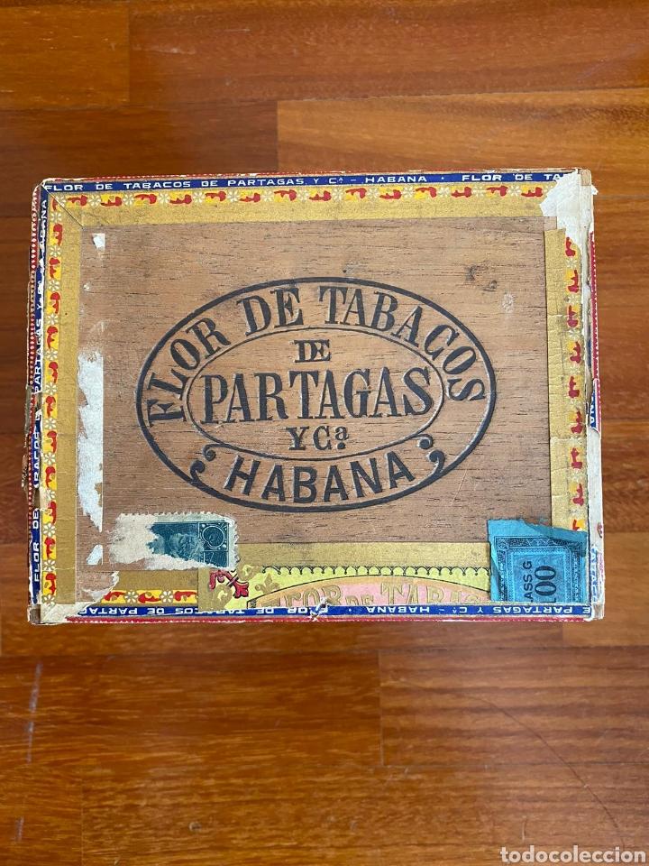 CAJA DE PUROS VINTAGE CUBAN CIGAR BOX PARTAGAS ENVIO INCLUIDO (Coleccionismo - Objetos para Fumar - Cajas de Puros)