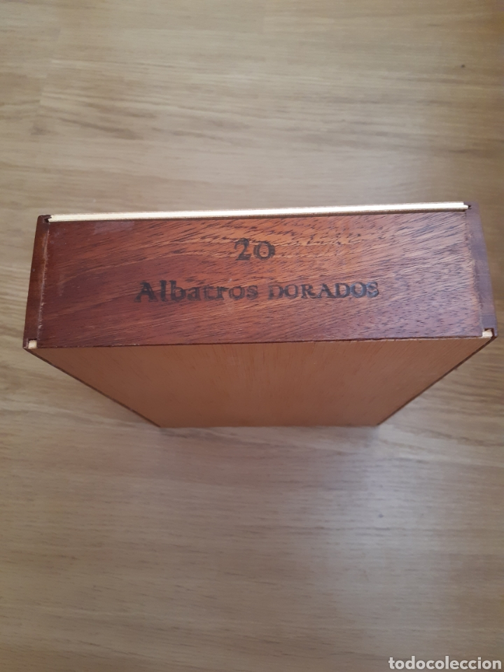 Cajas de Puros: CAJA DE PUROS - MADERA - ALBATROS DORADOS - Foto 6 - 200658302