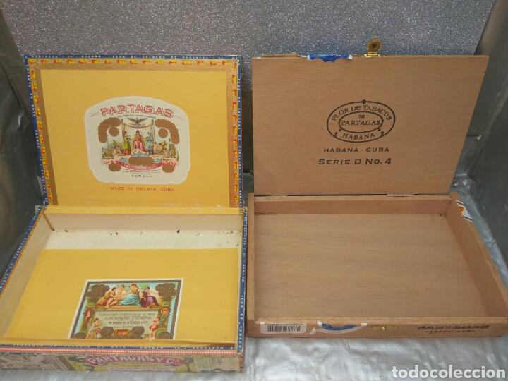 Cajas de Puros: CAJA PUROS PARTAGAS Y ROMEO Y JULIETA VACIAS 4 UNID. - Foto 2 - 200890511
