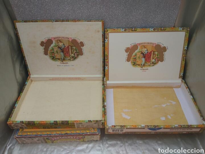 Cajas de Puros: CAJA PUROS PARTAGAS Y ROMEO Y JULIETA VACIAS 4 UNID. - Foto 3 - 200890511