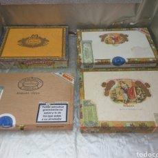 Cajas de Puros: CAJA PUROS PARTAGAS Y ROMEO Y JULIETA VACIAS 4 UNID.. Lote 200890511