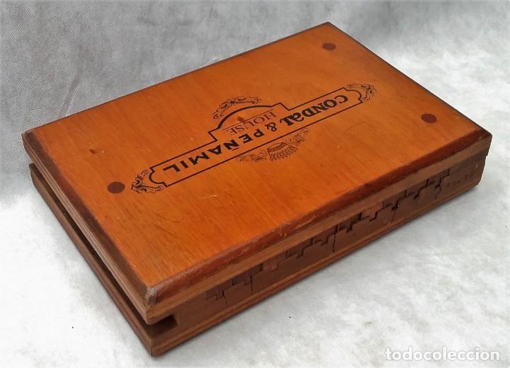 Cajas de Puros: Antigua prensa molde para cigarros puros Condal & Peñamil House Canarias - Envío gratis península - Foto 2 - 201969036