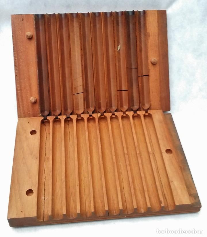 Cajas de Puros: Antigua prensa molde para cigarros puros Condal & Peñamil House Canarias - Envío gratis península - Foto 4 - 201969036