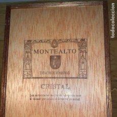Cajas de Puros: CAJA 20 PUROS CIGARROS MONTEALTO CRISTAL HONDURAS VACIA. Lote 202730236