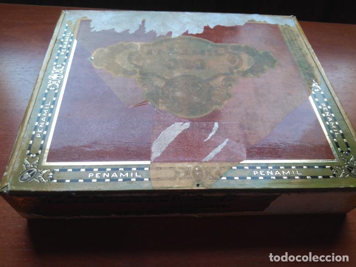 Cajas de Puros: LOTE DE 10 ANTIGUAS CAJAS DE PUROS Y PUROS - VEA LAS FOTOGRAFIAS - Foto 6 - 203109497