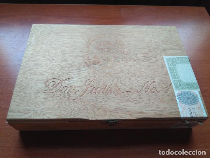 Cajas de Puros: LOTE DE 10 ANTIGUAS CAJAS DE PUROS Y PUROS - VEA LAS FOTOGRAFIAS - Foto 12 - 203109497
