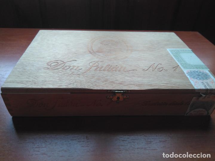 Cajas de Puros: LOTE DE 10 ANTIGUAS CAJAS DE PUROS Y PUROS - VEA LAS FOTOGRAFIAS - Foto 13 - 203109497