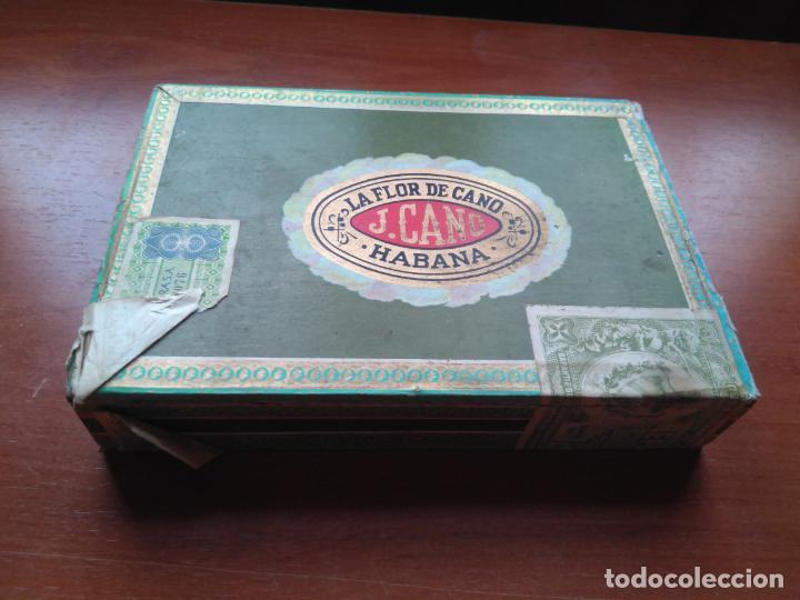 Cajas de Puros: LOTE DE 10 ANTIGUAS CAJAS DE PUROS Y PUROS - VEA LAS FOTOGRAFIAS - Foto 19 - 203109497