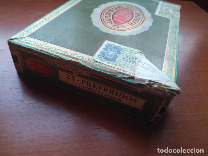 Cajas de Puros: LOTE DE 10 ANTIGUAS CAJAS DE PUROS Y PUROS - VEA LAS FOTOGRAFIAS - Foto 20 - 203109497