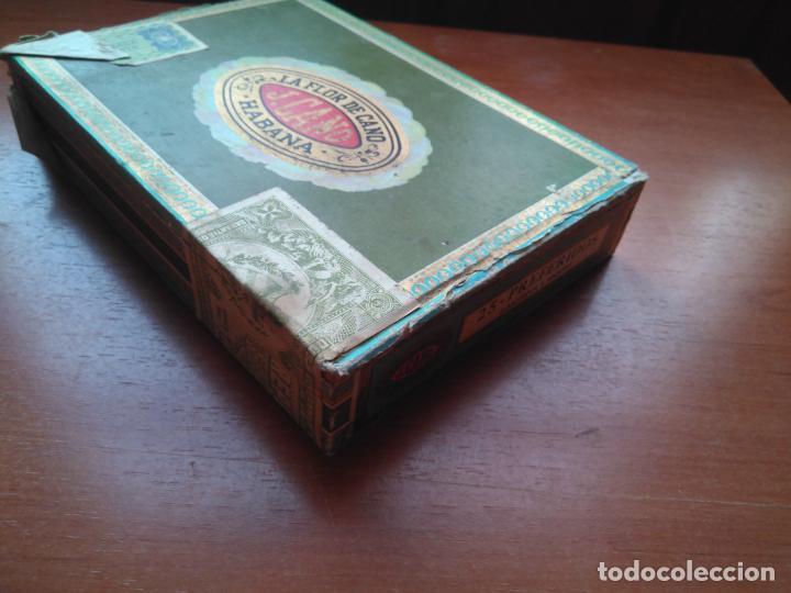 Cajas de Puros: LOTE DE 10 ANTIGUAS CAJAS DE PUROS Y PUROS - VEA LAS FOTOGRAFIAS - Foto 21 - 203109497