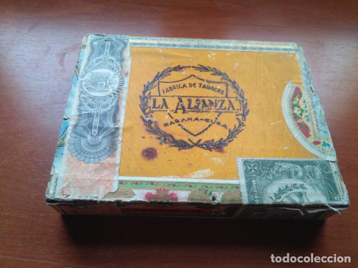Cajas de Puros: LOTE DE 10 ANTIGUAS CAJAS DE PUROS Y PUROS - VEA LAS FOTOGRAFIAS - Foto 23 - 203109497